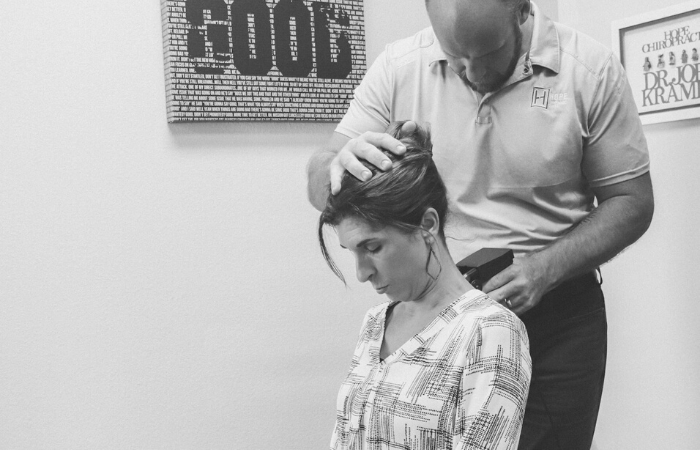 Upper cervical adjustment at Hope Southlake Chiropractic center
